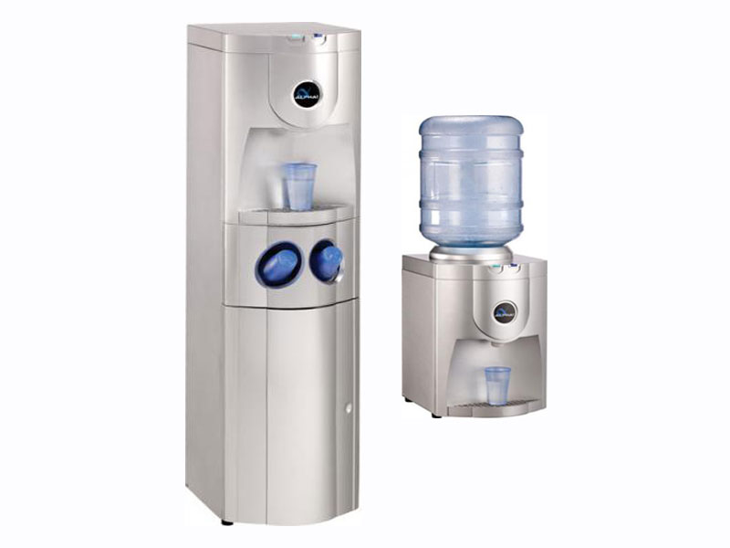 Silver Floorstanding POU & Counter Top Water Machine