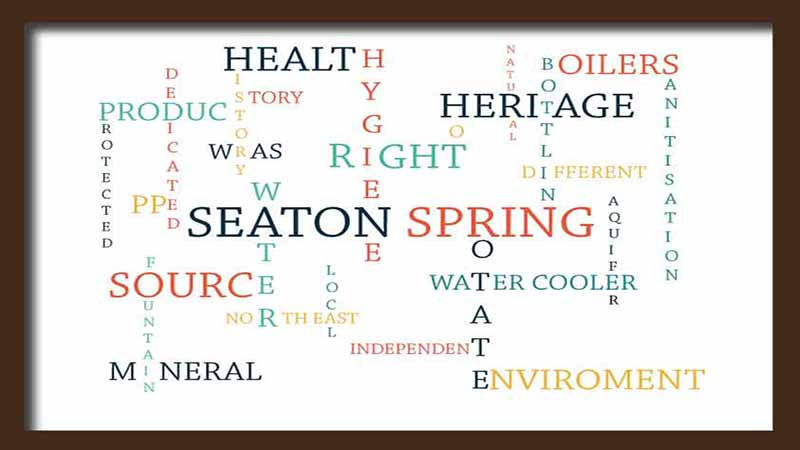 water word art showing what Seaton Spring do differently